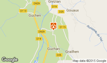 Mapa Saint Lary Soulan Casa 95516