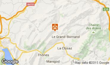 Mapa La Clusaz Chalet 72056