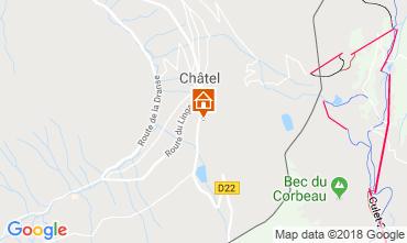 Mapa Châtel Chalet 799