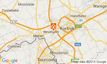 Mapa Kortrijk Casa rural 80282