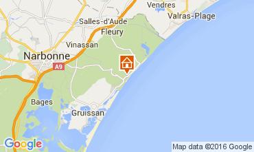 Mapa Narbonne plage Apartamento 104852