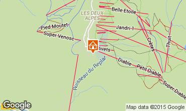 Mapa Les 2 Alpes Chalet 60919