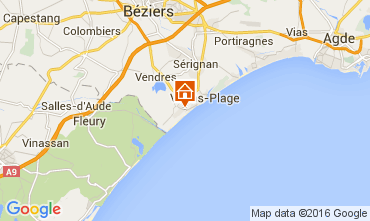 Mapa Valras-Plage Casa 103952