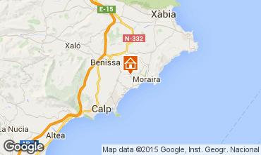 Mapa Moraira Villa 87365