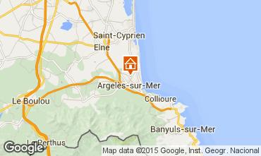 Mapa Argeles sur Mer Casa rural 83640