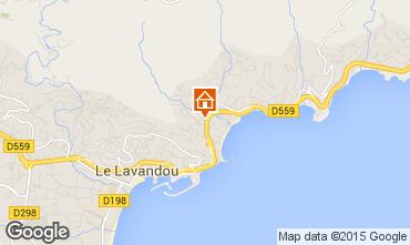 Mapa Le Lavandou Apartamento 8594