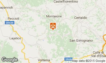Mapa Gambassi Terme Apartamento 58105