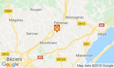 Mapa Pézenas Villa 116774
