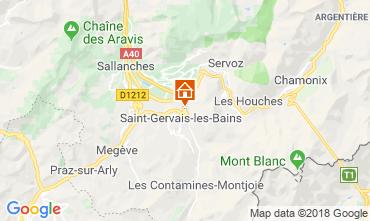 Mapa Saint-Gervais-les-Bains Apartamento 117068