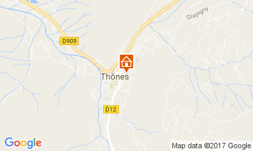 Mapa Les Villards-sur-Thônes Apartamento 109078