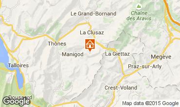 Mapa Manigod-Croix Fry/L'étale-Merdassier Apartamento 17198