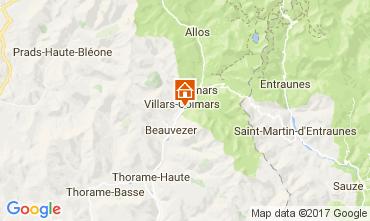 Mapa Val d'Allos Chalet 3208