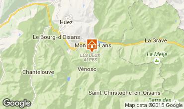 Mapa Les 2 Alpes Apartamento 1168
