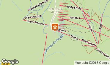 Mapa Les 2 Alpes Apartamento 53010