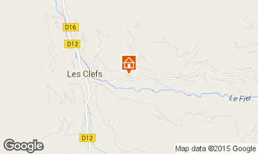 Mapa Manigod-Croix Fry/L'étale-Merdassier Chalet 27781