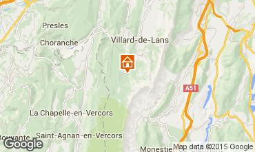 Mapa Villard de Lans - Corren�on en Vercors Casa rural 71792