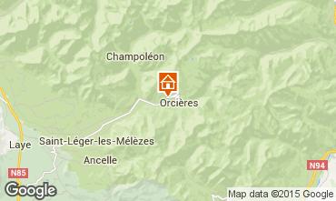 Mapa Orci�res Merlette Casa rural 75064