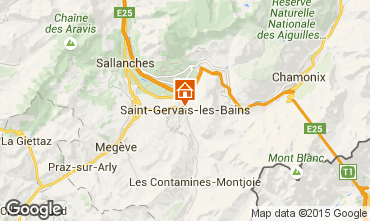 Mapa Saint-Gervais-les-Bains Apartamento 81553