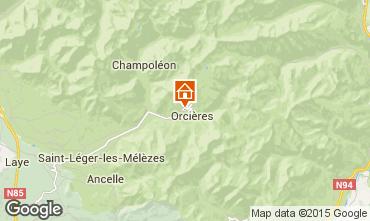Mapa Orci�res Merlette Apartamento 68260