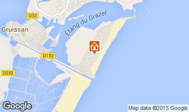 Mapa Gruissan-Plage Apartamento 84184