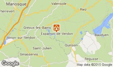 Mapa Gr�oux Les Bains Apartamento 33800