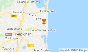 Mapa Canet-en-Roussillon Apartamento 75229