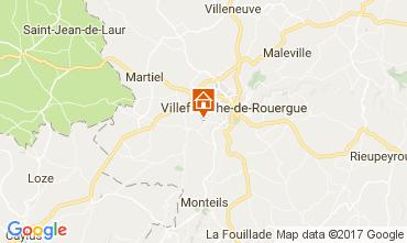 Mapa Villefranche de Rouergue Casa rural 110382