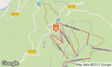 Mapa Les Arcs Chalet 320