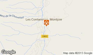 Mapa Les Contamines Montjoie Estudio 73809