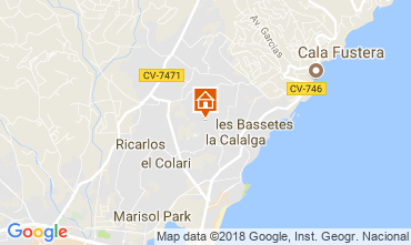 Mapa Calpe Chalet 115353