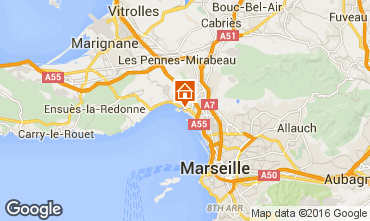 Mapa Marsella Alojamiento insólito 95375