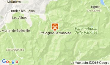 Mapa Pralognan la Vanoise Chalet 106385