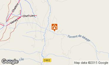 Mapa Les Contamines Montjoie Chalet 19543