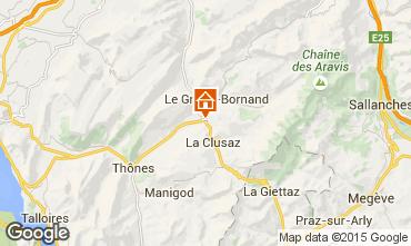 Mapa La Clusaz Apartamento 66207