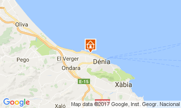 Mapa Denia Bungalow 108044