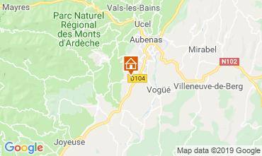 Mapa Aubenas Villa 117897