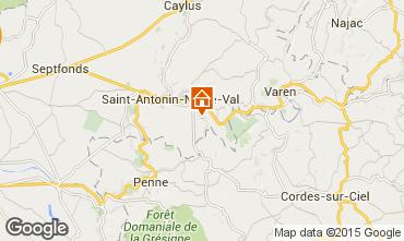 Mapa Saint Antonin Noble Val Casa rural 94421