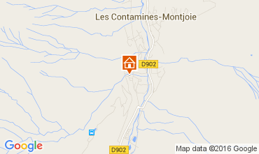 Mapa Les Contamines Montjoie Apartamento 38129