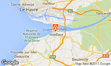 Mapa Honfleur Apartamento 72449