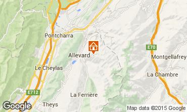 Mapa Le Collet d'Allevard Apartamento 28001