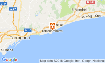 Mapa Torredembarra Apartamento 113650