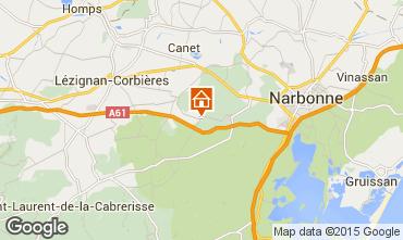 Mapa Narbonne Casa rural 93393