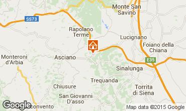 Mapa Rapolano Terme Casa rural 86545