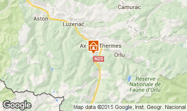 Mapa Ax Les Thermes Chalet 3915