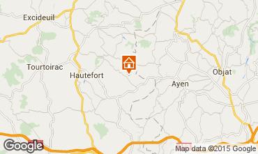 Mapa Montignac sur V�z�re (Grutas de Lascaux) Casa rural 97938