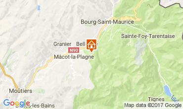 Mapa Montchavin les Coches Chalet 106570