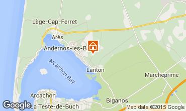 Mapa Andernos les Bains Casa rural 91292