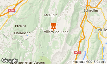 Mapa Villard de Lans - Corrençon en Vercors Chalet 38561