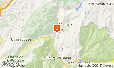 Mapa Alpe d'Huez Chalet 21