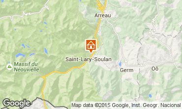 Mapa Saint Lary Soulan Apartamento 101797